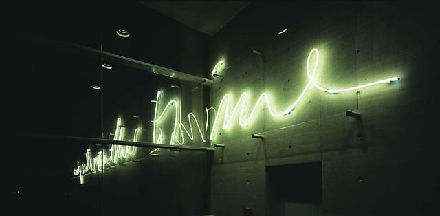 Neon Leuchtreklame und Lichtwerbung